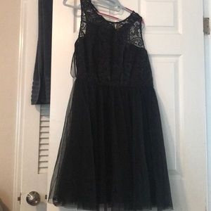 Black tulle/lace party dress 2X